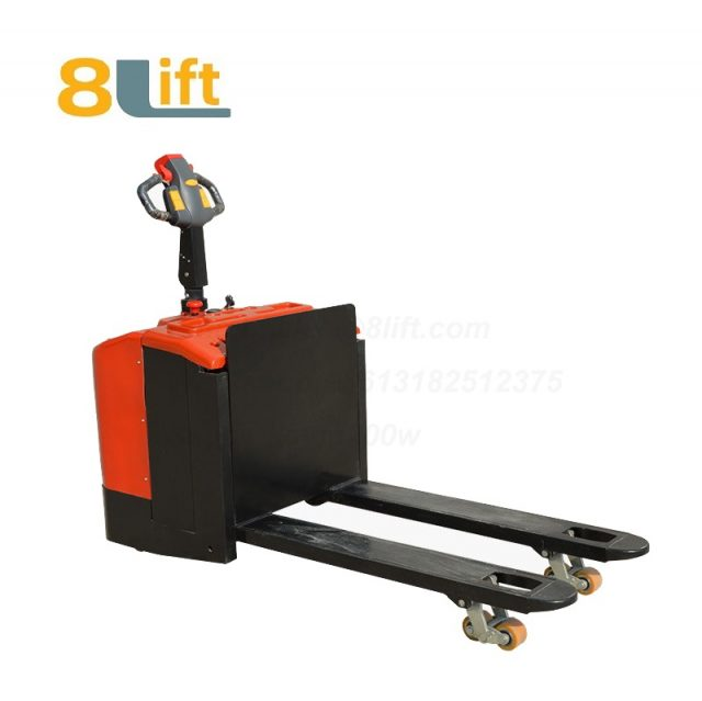 Stand Standing on Driving Drive Hydraulic Automatic move and lift battery powered self propelled Pallet jack Full All electric Pallet Truck-8-1