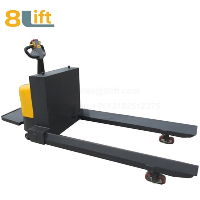 Standing on Driving Hydraulic Automatic move battery powered self propelled steel coil roll paper roll yarn roller pallet jack electric Pallet Truck-8-1