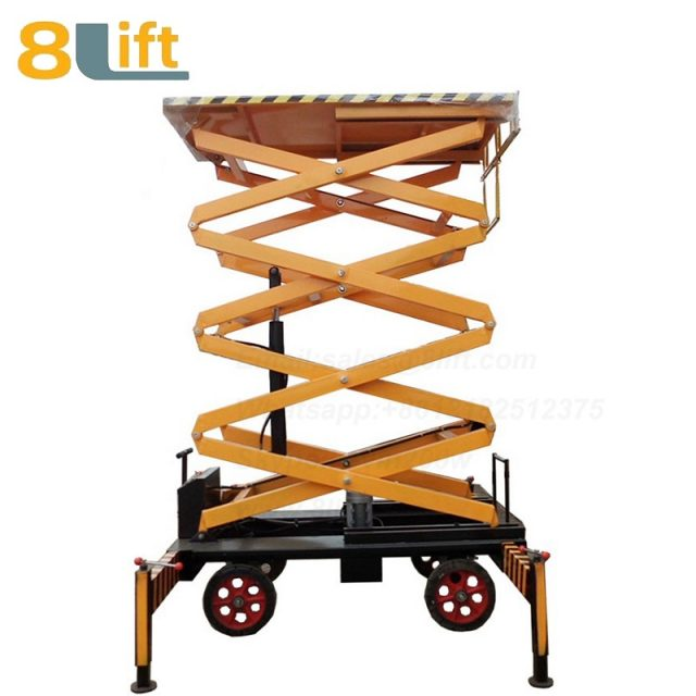 electric lift ladder aerial Maintenance man work electric Hydraulic scissor mobile movable platform lift table-2-1