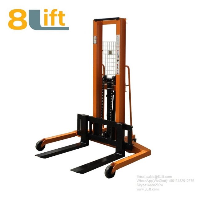 Hydraulic Straddle Leg Manual Hand operate Pallet Stacker Straddle Leg Stacker